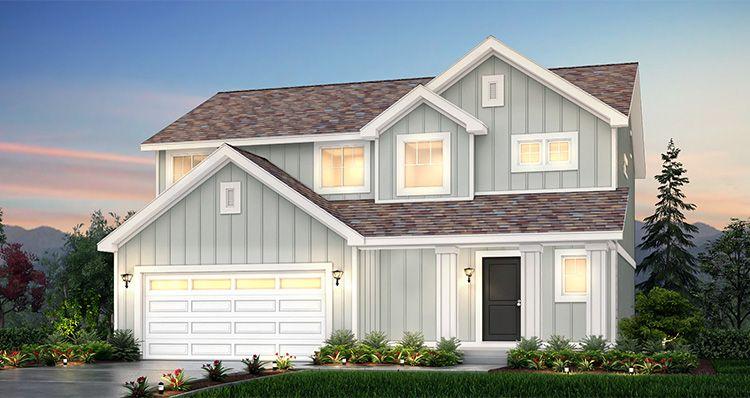Elevation:Woodside Homes - Lot 2528 - Amesbury