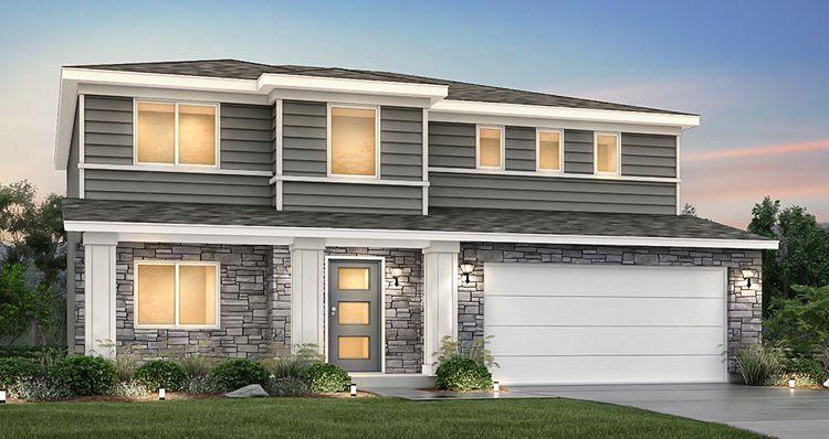 Elevation:Woodside Homes - Lot 9940 - Stonehaven