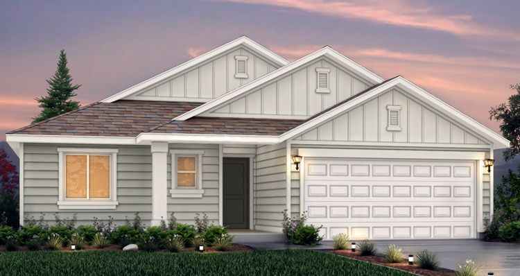 Elevation:Woodside Homes - Edgewater - SCG