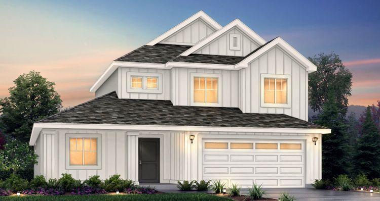 Elevation:Woodside Homes - Lot 549 - Addison