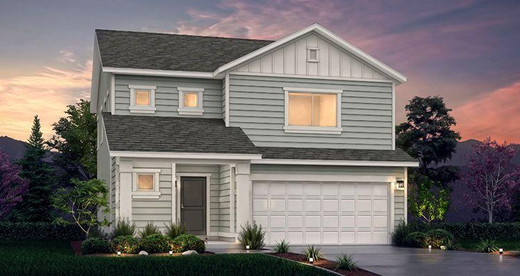 Elevation:Woodside Homes - Lot 528 - Spruce