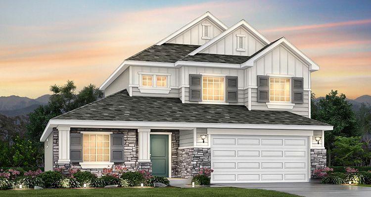 Elevation:Woodside Homes - Lot 9939 - Addison