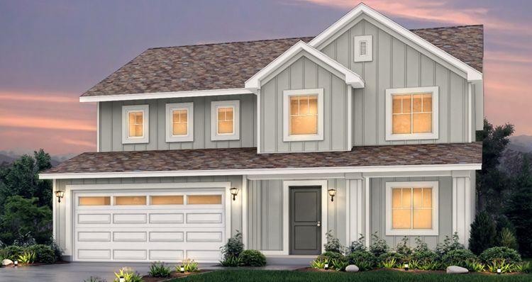 Elevation:Woodside Homes - Lot 501 - Stonehaven
