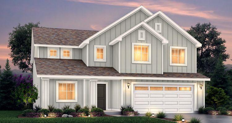Elevation:Woodside Homes - Lot 505 - Hampton Estates