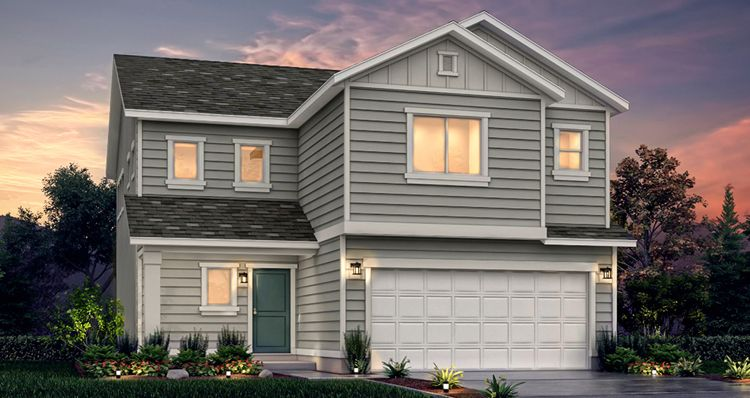 Elevation:Woodside Homes - Lot 526 - Gambel Oak