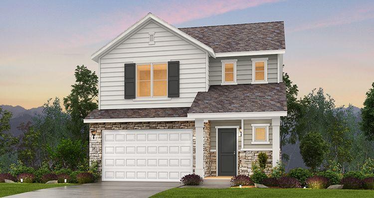 Elevation:Woodside Homes - Lot 8848 - Spruce