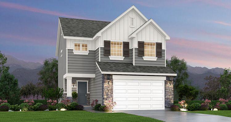 Elevation:Woodside Homes - Lot 8852 - Boxelder