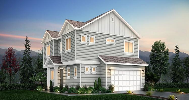 Elevation:Woodside Homes - Lot 10 - Aspen