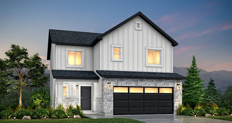 Elevation:Woodside Homes - Cedar - SLB