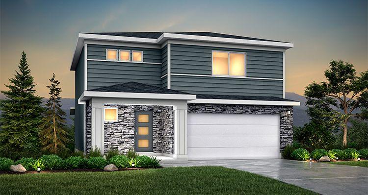 Elevation:Woodside Homes - Elm - SLB