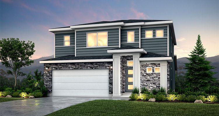 Elevation:Woodside Homes - Linden - SLB