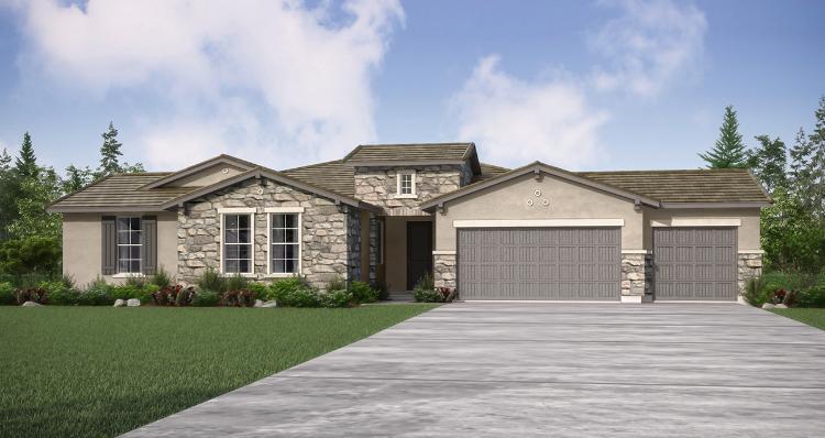Elevation:Woodside Homes - Bethpage - Lot 2013